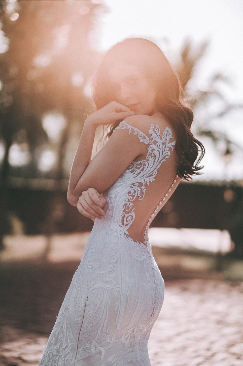 vestido de noiva aberto