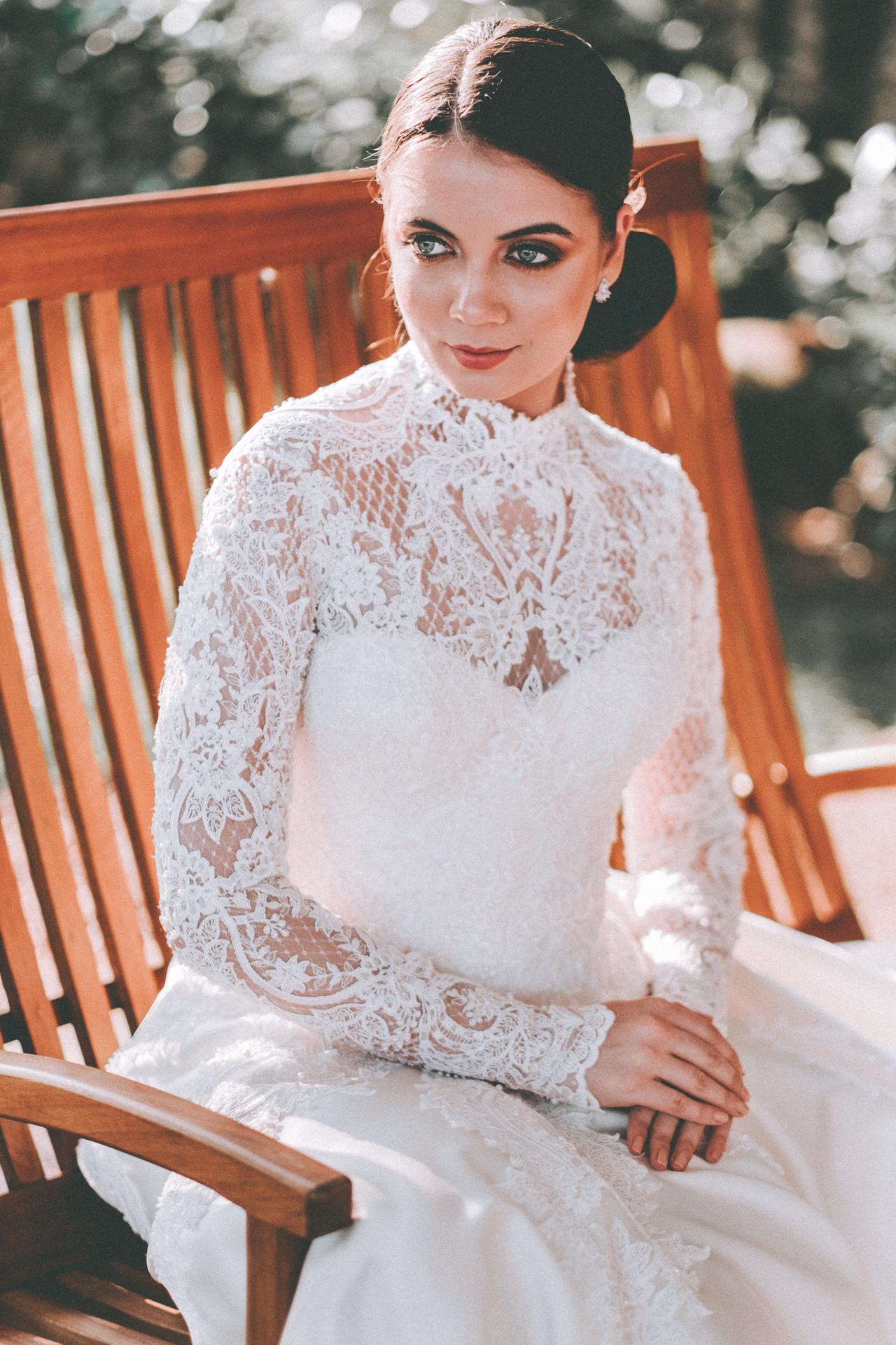 vestido de noiva manga cumprida