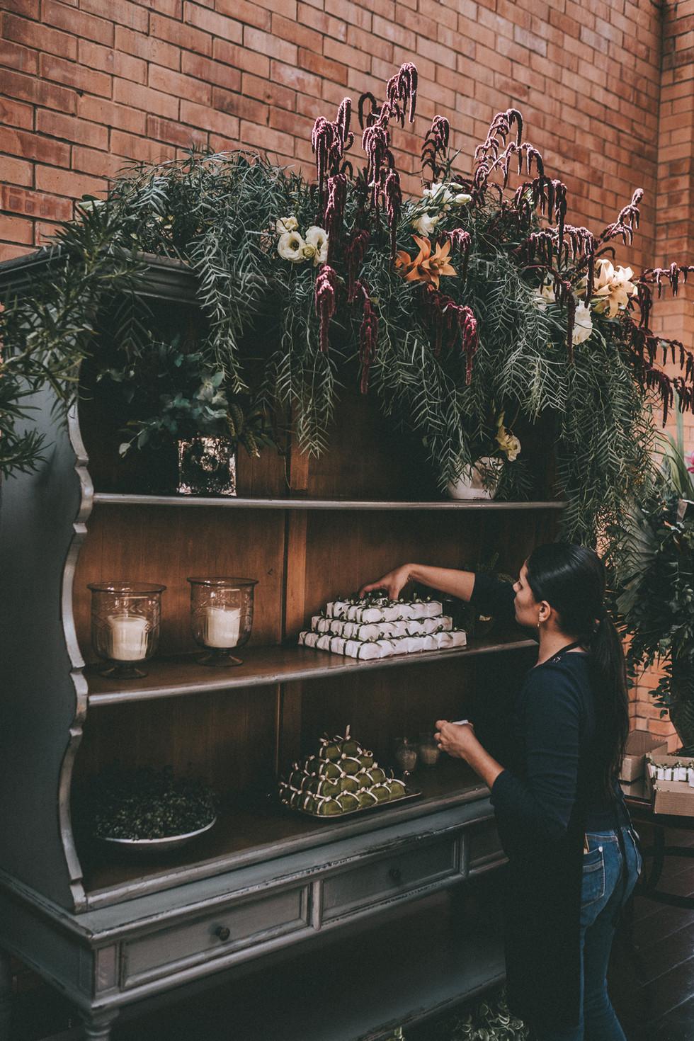 arranjos, decoração de casamento boho