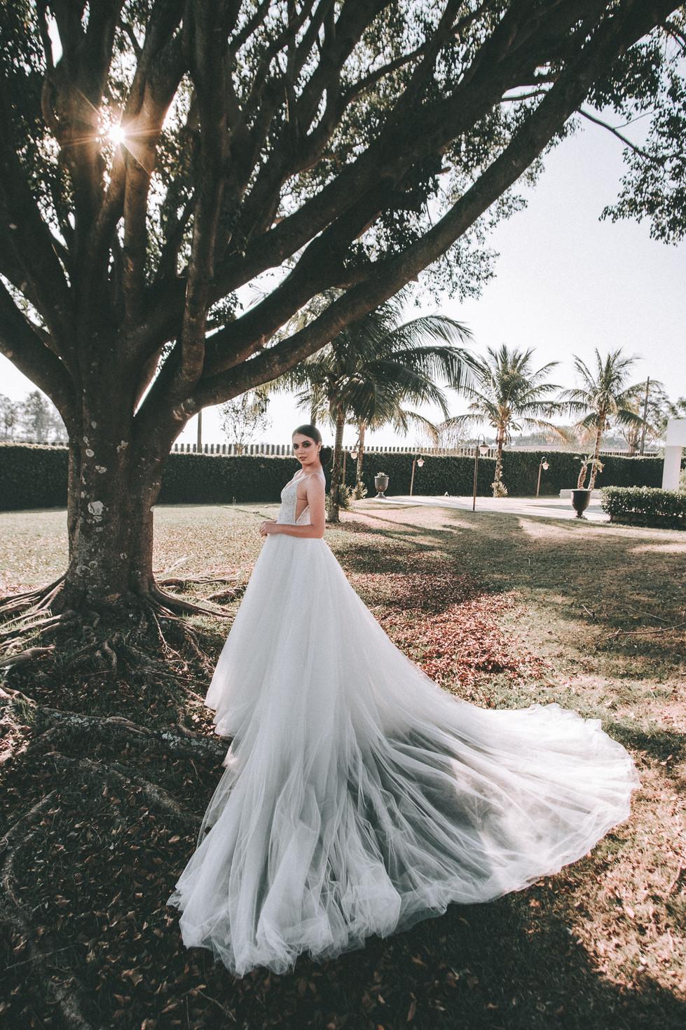 vestido de noiva calda grande
