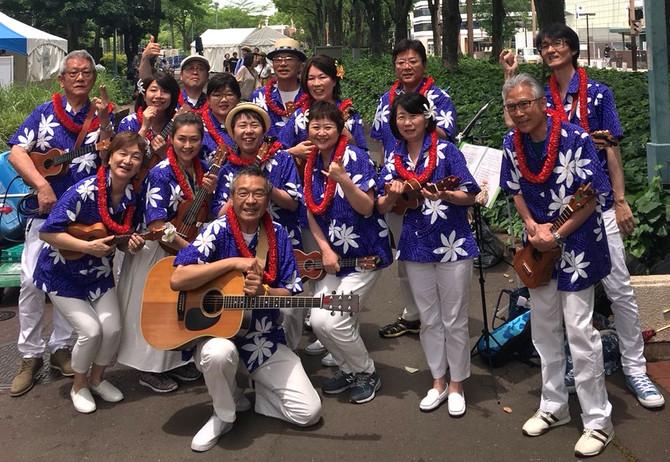Nagoya HAWAIIAN FESTIVAL 2018にリボンレイとウクレレチームが参加しました!