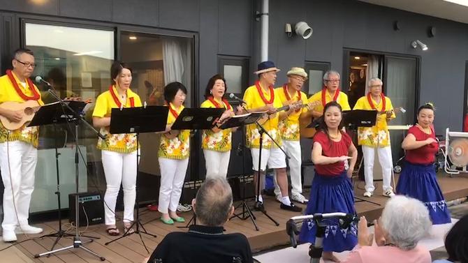 介護施設の夏祭りにISLAND LIFEチームで演奏をさせていただきました!