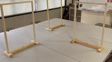 飛沫感染防止のためのシールドフェンスを作成しました!
