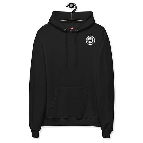 Unisex fleece hoodie w/WHITE LOGO