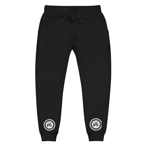 Unisex fleece sweatpants w/WHITE LOGO