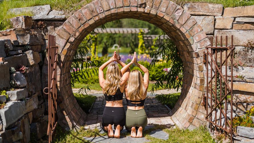 yoga pose in montana