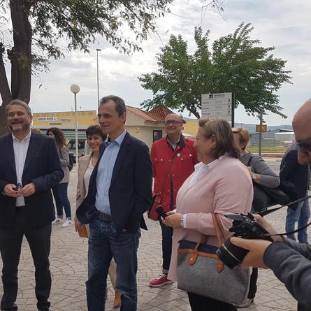 El Ministro de Ciencia, Pedro Duque, visita la comunidad científica de Orihuela.