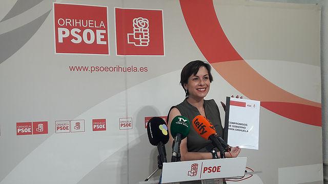 carlina gracia, moción censura, bascuñana, psoe, orihuela, compromisos, gobierno, alternativa