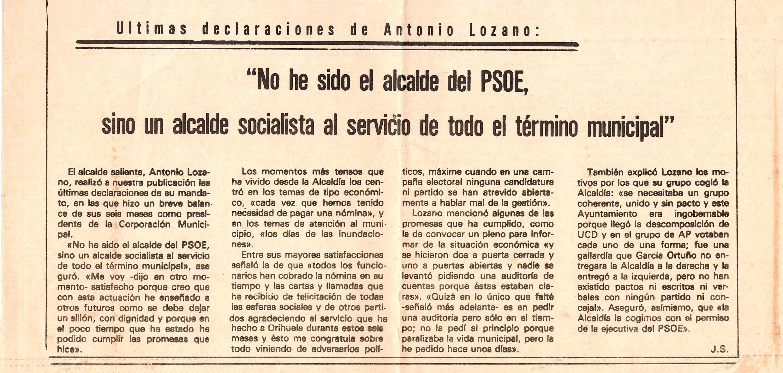 Declaraciones de Lozano