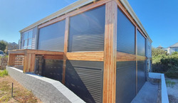 Extruded Aluminium offering extra strength for security & low maintenance for the beachfront