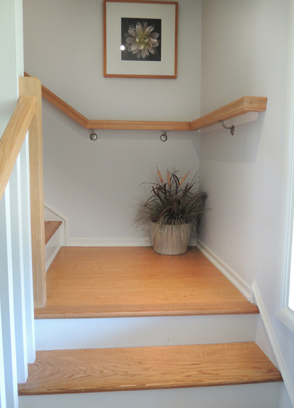 New wood staircase