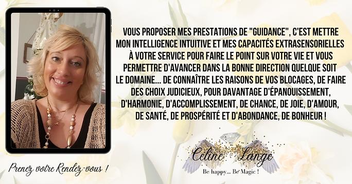 Les guidances de Céline Lange