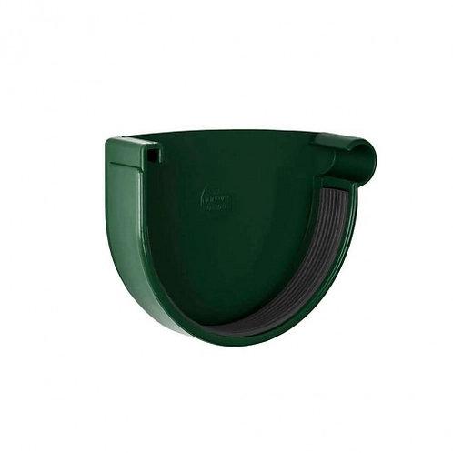 Заглушка ринви права Rainway 90 мм зелена