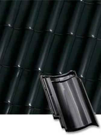 Черепиця хвильова Roben Bornholm тип S чорно-коричнева глазурована