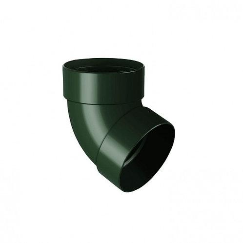 Відведення двомуфтове Rainway 67 градусів 100 мм зелене