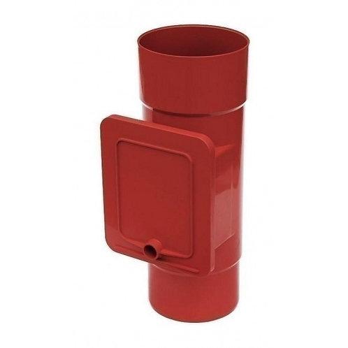 Люк для чистки Bryza  110,4х104,5 мм червоний