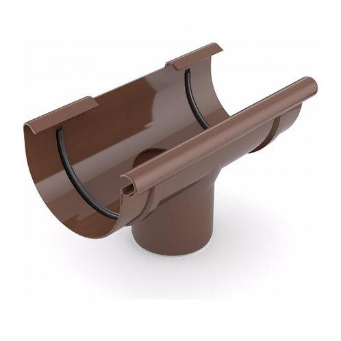 Лійка ринви зливна Bryza 100 240х90 мм коричневий