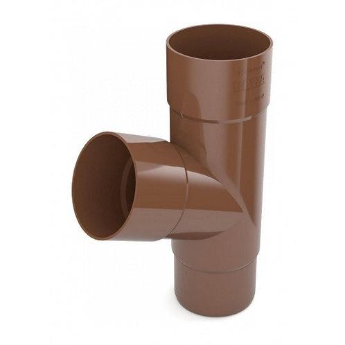 Трійник труби Bryza 125 245х90,2х90,2х84,5 мм коричневий