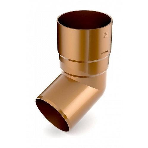 Коліно труби Bryza 125 67 градусів 90,2х145х84,5 мм мідний