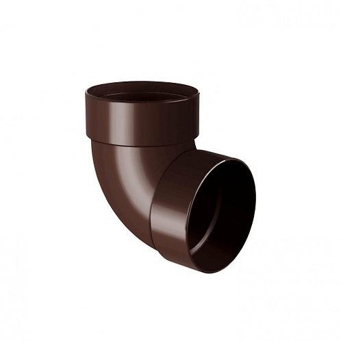 Відведення двомуфтове Rainway 87 градусів 100 мм коричневе