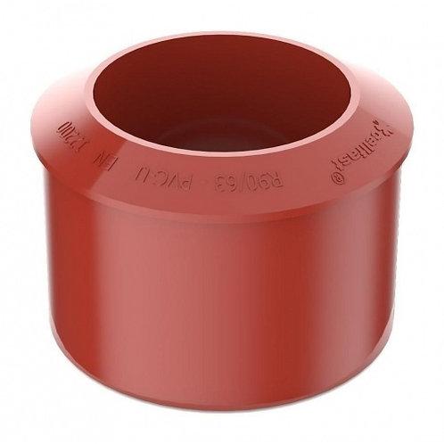 Перехідник труби Bryza 90,2х110 мм червоний