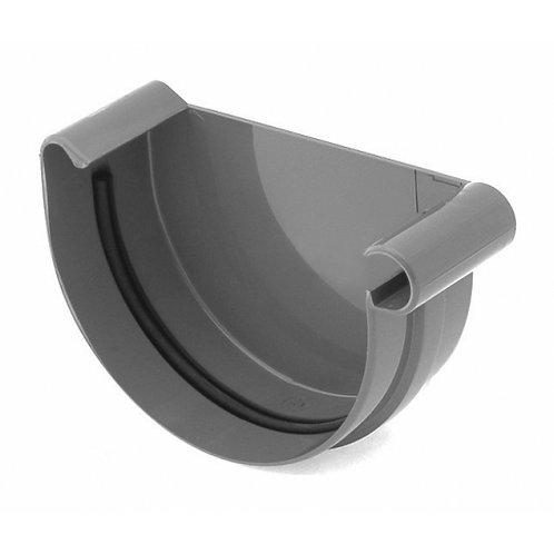 Заглушка ринви права Bryza R 125 мм графіт