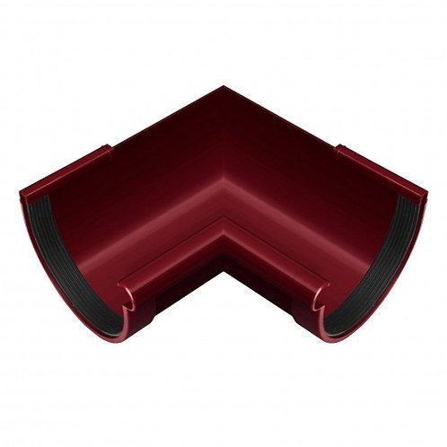 Кут ринви внутрішній Rainway 90 градусів 130 мм червоний