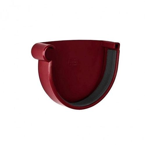 Заглушка ринви ліва Rainway 130 мм червона