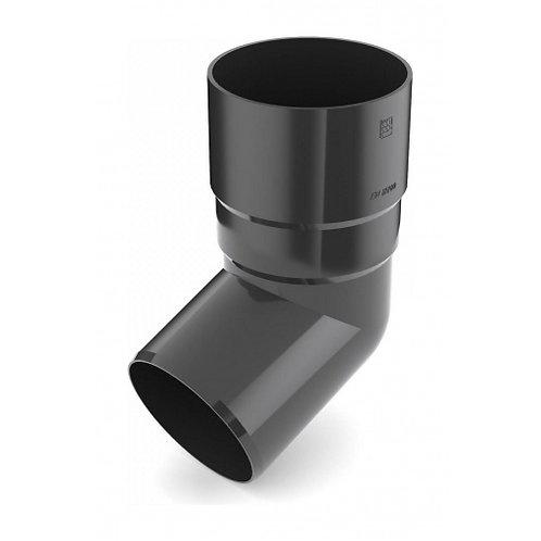 Коліно труби Bryza 100 67 градусів 90,2х145х84,5 мм графіт