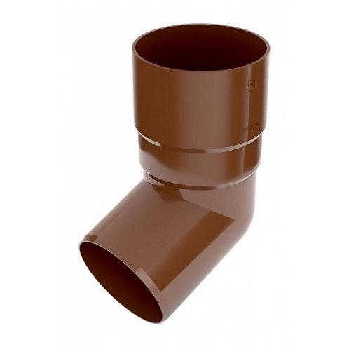 Коліно труби Bryza 100 67 градусів 90,2х145х84,5 мм коричневий