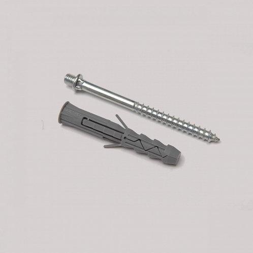 Гвинт-шуруп кріпильний з дюбелем Rainway 100 мм