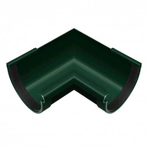 Кут ринви внутрішній Rainway 90 градусів 90 мм зелений