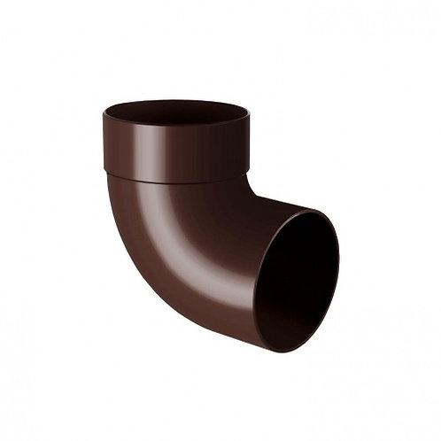 Відведення одномуфтове Rainway 87 градусів 75 мм коричневе