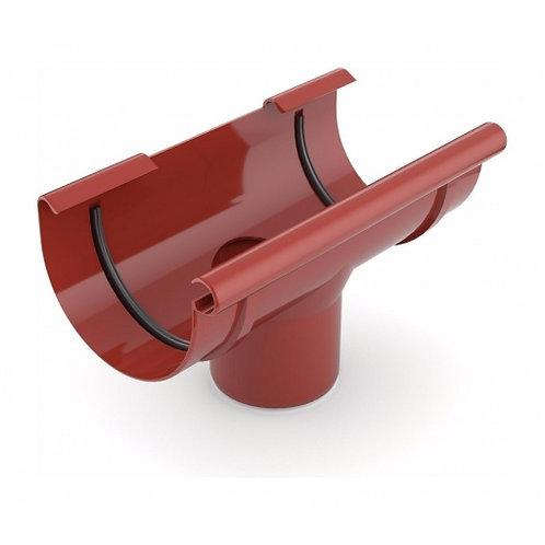 Лійка ринви зливна Bryza 100 240х90 мм червоний