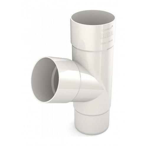 Трійник труби Bryza 100 245х90,2х90,2х84,5 мм білий