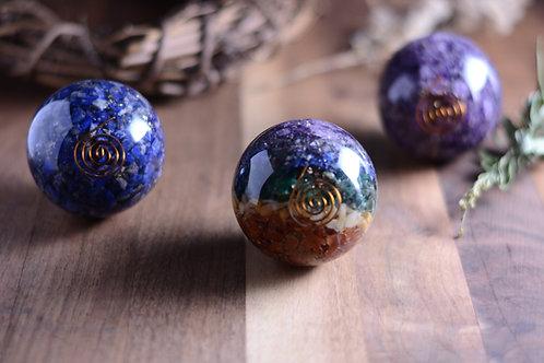 Crystal Orgonite Spheres