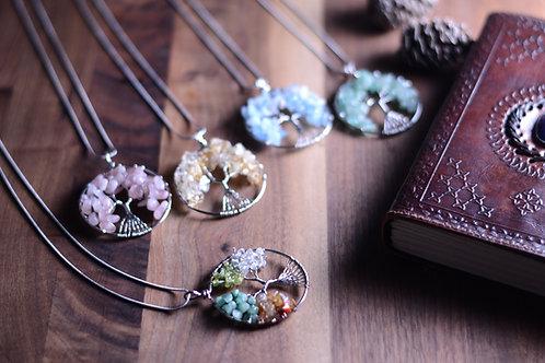Tree of Life Gemstone & Crystal Pendants