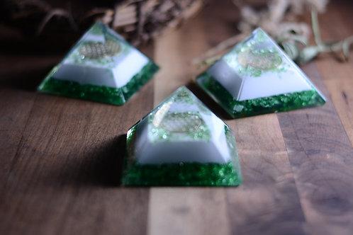 Jade Orgonite Pyramids