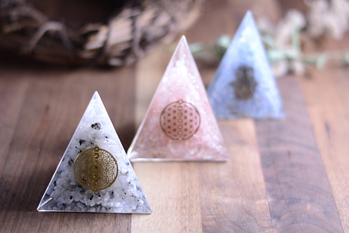 Crystal Orgone Pyramids