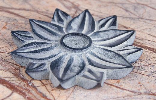 Lotusblume aus Speckstein, räuchern, Räucherstäbchenhalter, Räucherstäbchen Halter, Lotusblume, Speckstein