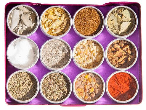 reinigung und schutz, räuchern, räuchersortiment, Berk, weisser salbei, süssholzwurzel, wacholderbeeren, kampfer, beifuss
