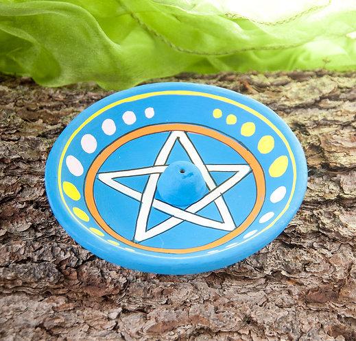 Räucherstäbchenhalter Pentagramm, räuchern, Räucherstäbchen, Pentagramm