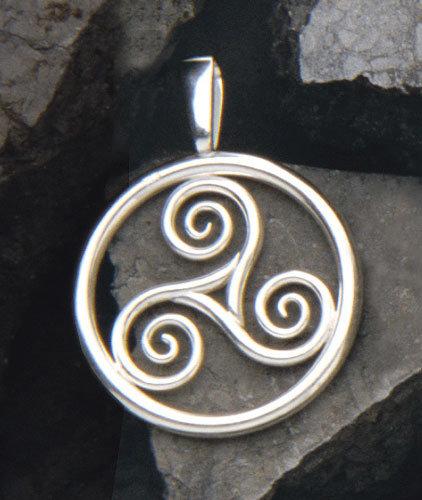 Triskell, Triskelle, Anhänger, Schmuck, Keltisch, Erde, Feuer, Wasser, Luft