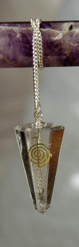 Pendel, Pendel Choku rei, Raiki, raiki pendel, pendeln, Bergkristall Pendel, Pendel aus Bergkristall