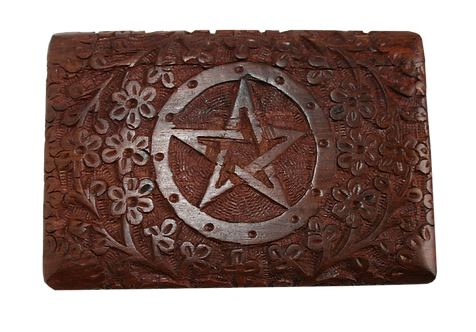 Holzkästchen Pentagramm