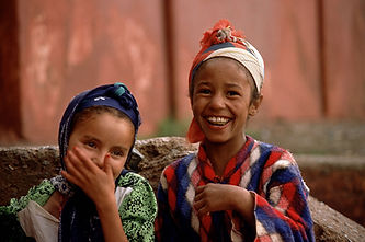 Shy Girls Smiling for the Camera