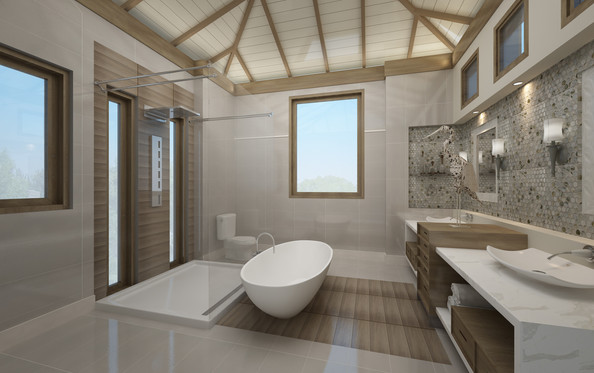 New Villas Master Bathroom