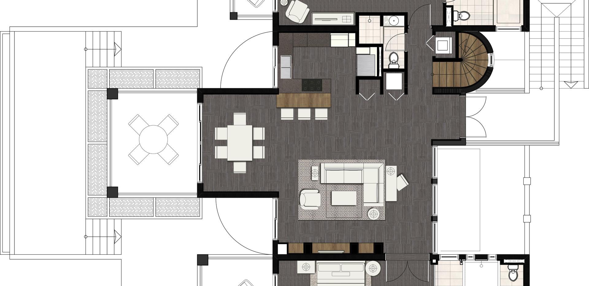 New Villas Two Bedroom Plan
