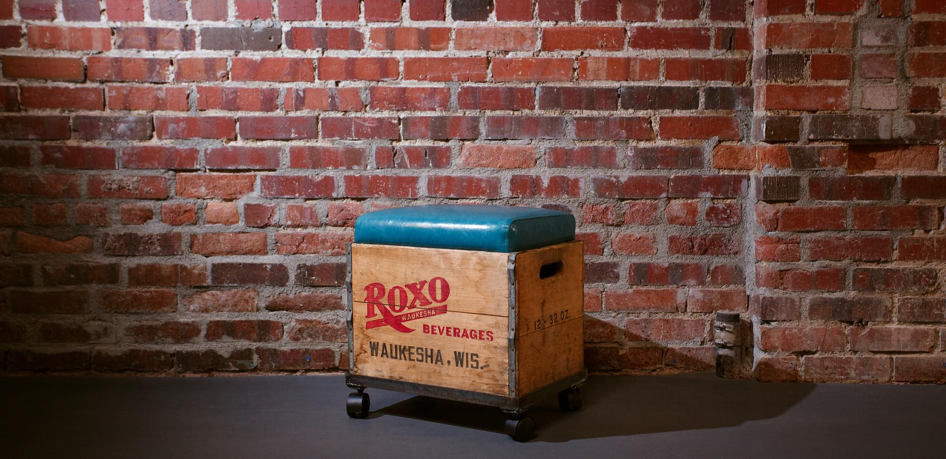 Custom Vintage Crate Ottoman