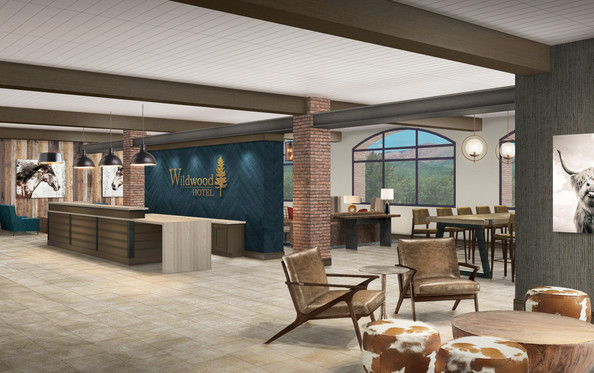 Wildwood Lobby Reception Rendering
